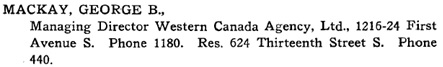 Henderson's City of Lethbridge Directory, 1917, page 192, http://peel.library.ualberta.ca/bibliography/3438.8/192.html.