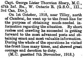 Supplement to the London Gazette, October 4, 1919, page 12261; https://www.thegazette.co.uk/London/issue/31583/supplement/12261/data.pdf.
