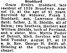 Statesman Journal (Salem, Oregon), August 27, 1940, page 5, column 3.