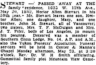 Vancouver Sun, May 21, 1932, page 20, column 1; https://news.google.com/newspapers?id=Ka1lAAAAIBAJ&sjid=0YgNAAAAIBAJ&pg=2686%2C2448766.
