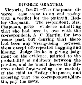 The Winnipeg Tribune, December 22, 1898, page 1, column 3.