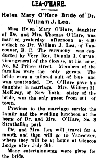 Democrat and Chronicle (Rochester, New York), June 9, 1910, page 16, column 4.