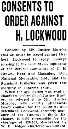 Vancouver Daily World, June 12, 1923, page 2, column 6.