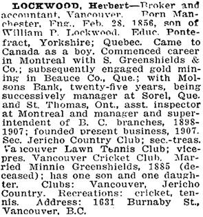 Who's Who in Western Canada; edited by C.W. Parker; Vancouver, Canadian Press Association Limited, 1911, pages 241-242; https://open.library.ubc.ca/collections/bcbooks/items/1.0348960#p244z-3r0f: