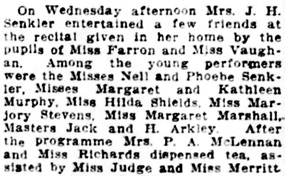 Vancouver Daily World, March 16, 1912, page 9, column 4.