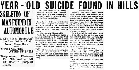 La Grande Observer (La Grande, Oregon), August 6, 1938, page 1, column 8.
