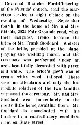 The Capital Journal (Salem, Oregon), September 14, 1912, page 3, column 3.