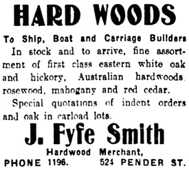 Vancouver Daily World, August 6, 1908, page 16, column 6.