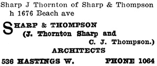 Henderson's City of Vancouver Directory, 1908, page 925.