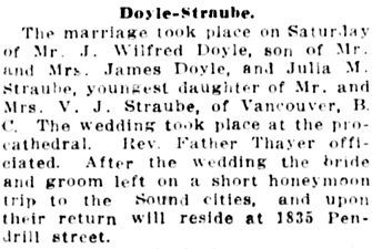 Vancouver Daily World, November 26, 1914, page 5, column 3.