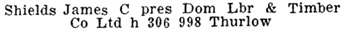 Henderson's Greater Vancouver Directory, Part 2, 1912, page 1190.