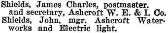 Henderson's BC Gazetteer and Directory, 1900-1901, page 192 (Ashcroft).