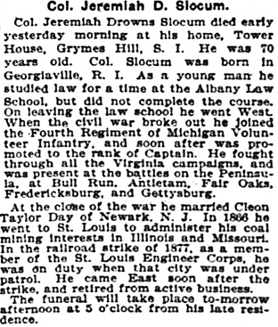 The New York Times, March 13, 1907, page 9, column 6.