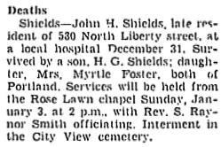 The Capital Journal (Salem, Oregon), January 2, 1943, page 10, column 8.