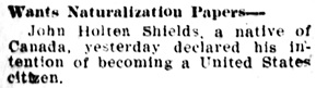 Daily Capital Journal (Salem, Oregon), June 15, 1908, page 8, column 1.
