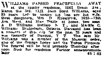 Vancouver Sun, March 4, 1923, page 29, column 1; https://news.google.com/newspapers?id=OyllAAAAIBAJ&sjid=mogNAAAAIBAJ&pg=1131%2C380750 [link leads to column 2; death notice is in column 1.]