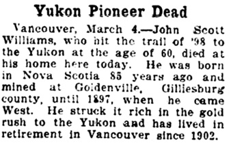The Gazette (Montreal), March 5, 1923, page 15, column 4.