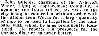 Victoria Daily Colonist, July 12, 1899, page 3, column 2; http://archive.org/stream/dailycolonist18990712uvic/18990712#page/n2/mode/1up.