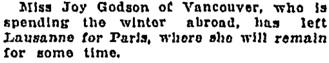 Toronto Globe, March 31, 1927, page 14, column 3.
