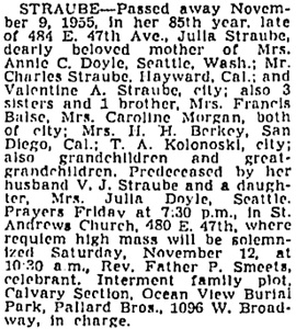 Vancouver Province, November 10, 1955, page 35; Vancouver Sun, November 10, 1955, page 32, column 5; https://news.google.com/newspapers?id=ET5lAAAAIBAJ&sjid=zIkNAAAAIBAJ&pg=3490%2C2066141.