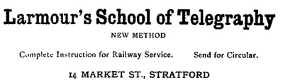 Vernon's City of Stratford Directory [Ontario], 1905-1906, page 96; https://archive.org/stream/vernonscityofstr1905vernuoft#page/96/mode/1up.