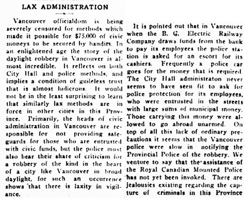 Victoria Daily Colonist, October 3, 1922, page 4, column 1; http://archive.org/stream/dailycolonist0922uvic_26#page/n3/mode/1up.