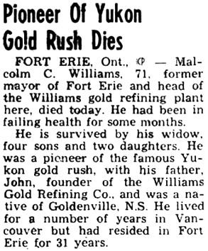 Nanaimo Daily News, April 4, 1949, page 6, column 4.