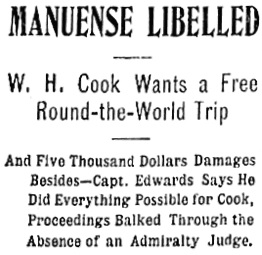 Vancouver Daily World, August 18, 1898, page 6, column 1 (headlines only).