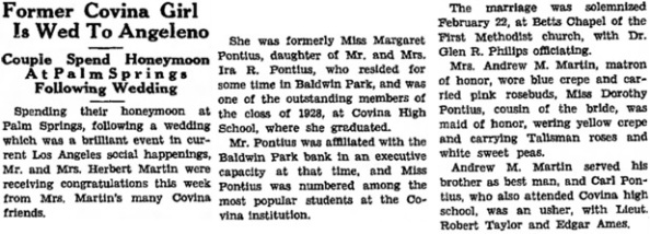 Covina Argus (Covina, California), March 9, 1934, page 13, column 3.
