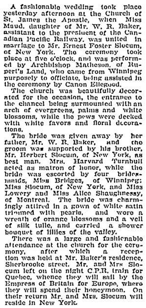Montreal Gazette, October 3, 1907, page 3, column 3; https://news.google.com/newspapers?id=CyIuAAAAIBAJ&sjid=HX8FAAAAIBAJ&pg=4898%2C2944179.