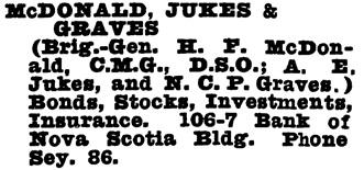 Wrigley's British Columbia Directory, 1927, page 1094.