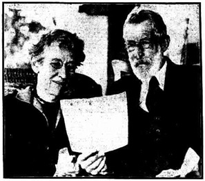 """Mr. and Mrs. Kingsford Smith, of Willoughby, N.S.W., parents of Captain Kingsford Smith,"" (Hobart, Tasmania), June 12, 1928, page 5; https://trove.nla.gov.au/newspaper/article/29790939."