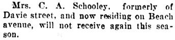 Society, Vancouver Daily World, May 25, 1907, page 13; column 3.