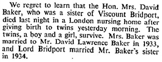 Obituary, The Times (London, England), May 27, 1936; page 18.