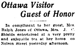 Vancouver Daily World, February 26, 1919, page 6, column 4 [long list of guests omitted].