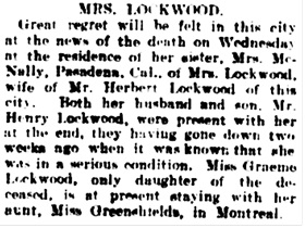 Vancouver Daily World, January 28, 1910, page 19, column 4.