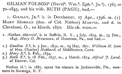 A Genealogy of the Folsom Family: John Folsom and His Descendants : 1615-1882, by Jacob Chapman; Concord, New Hampshire, Republican Press Association, 1882, page 153 (ancestry.ca).