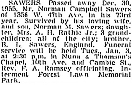 Vancouver Province, December 31, 1955, page 29; Vancouver Sun, December 31, 1955, page 28, column 4; https://news.google.com/newspapers?id=6TtlAAAAIBAJ&sjid=vYkNAAAAIBAJ&pg=1263%2C5638131.