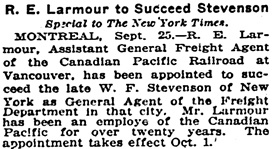 The New York Times, September 24, 1915, page 16, column 5.