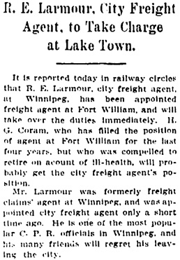The Winnipeg Tribune, August 14, 1906, page 1, column 1.