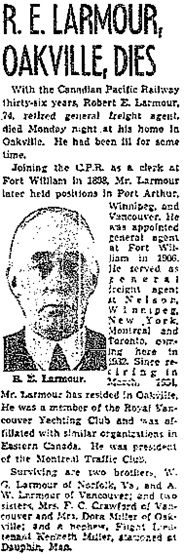 Toronto Globe and Mail, July 1, 1942, page 4, column 6.