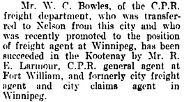 Vancouver Daily World, June 30, 1908, page 4, column 2.