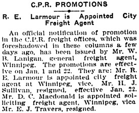Winnipeg Tribune, January 17, 1906, page 1, column 2.