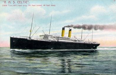 R.M.S. Celtic, http://www.greatships.net/celtic2.html.