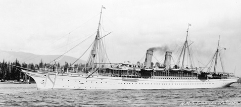 "R.M.S. ""Empress of Japan"" [1890s]; Vancouver City Archives, SGN 917; http://searcharchives.vancouver.ca/r-m-s-empress-of-japan."