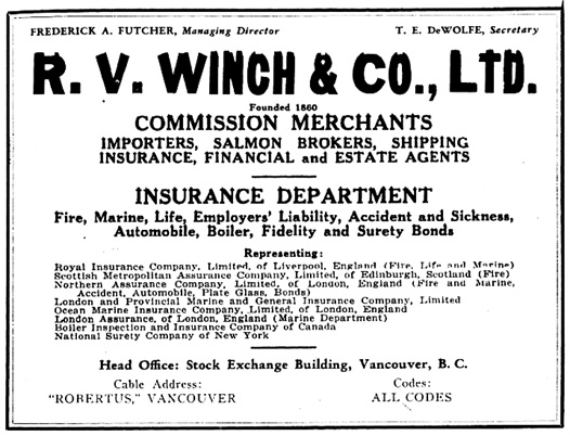 Wrigley's BC Directory, 1929, page 115.