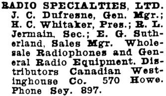 Wrigley Henderson Amalgamated BC Directory, 1924, page 1029.
