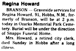 The Springfield News-Leader, Springfield, Missouri, August 25, 1987, page 10, column 1.
