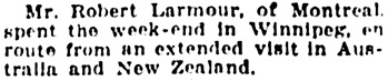 The Winnipeg Tribune, March 22, 1927, page 8, column 4.