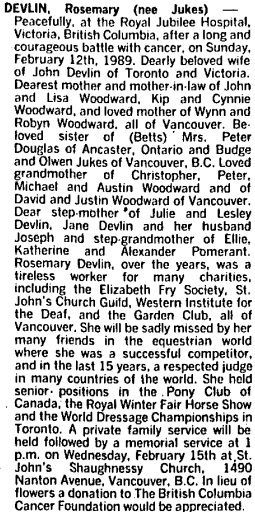 Toronto Globe and Mail, February 15, 1989, page A16, column 2.